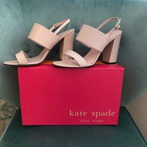 Kate Spade Irvine sandal in petal pink. NEW w/box